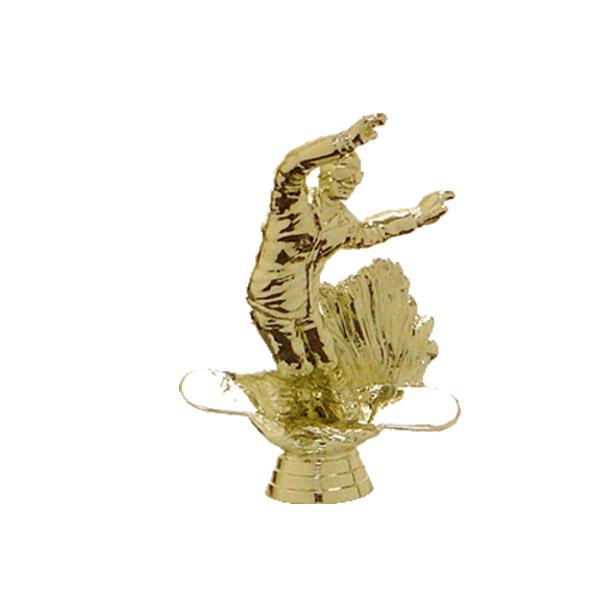 Snowboard Gold Trophy Figure