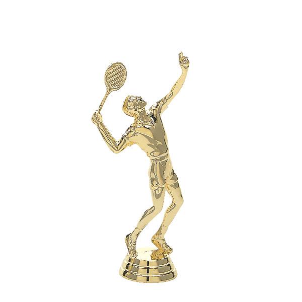 Tennis w/Racquet Male Gold Trophy Figure