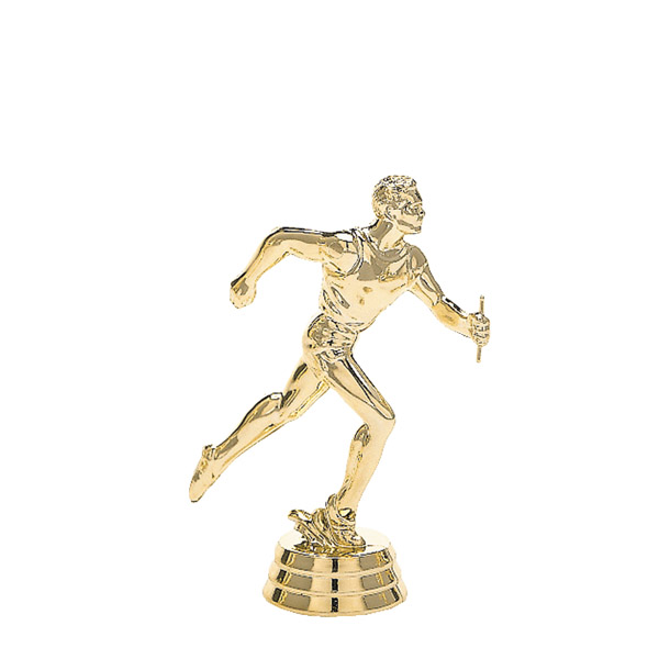 Track Relay Male Gold Trophy Figure