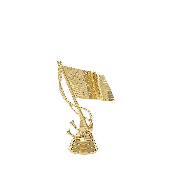 US Flag gold trophy figure