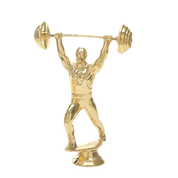 Weightlifter Clean & Jerk Gold Trophy Figure