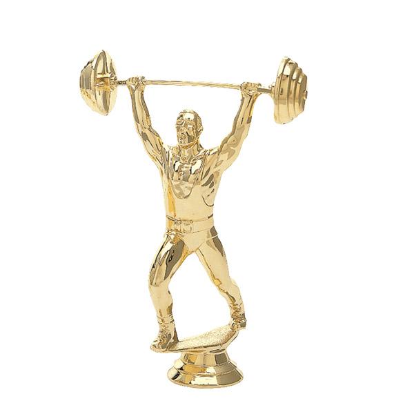 Weightlifter Clean & Jerk Gold Trophy Figure