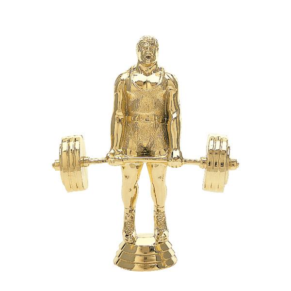 Weightlifter Power Gold Trophy Figure