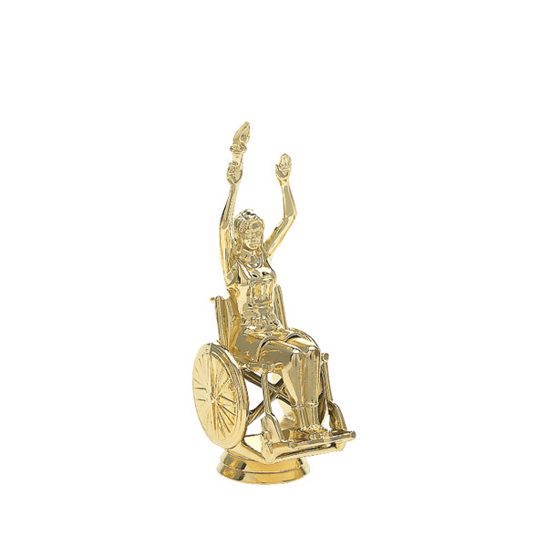 Wheelchair Victory Female Gold Trophy Figure