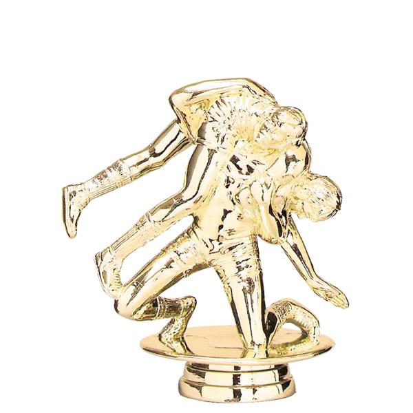 Double Wrestler Gold Trophy Figure