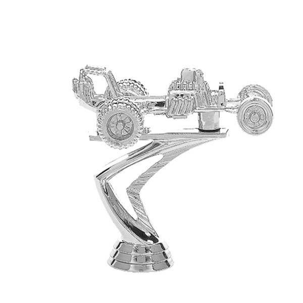 Dune Buggy Silver Trophy Figure