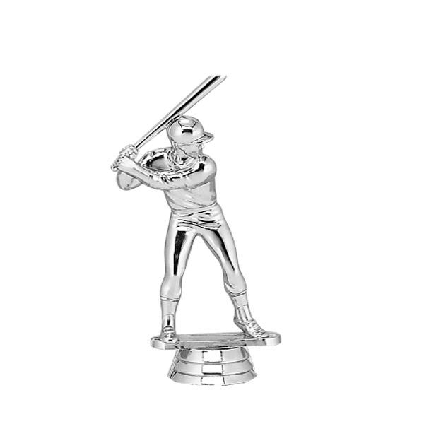 Baseball Batter Male Silver Trophy Figure