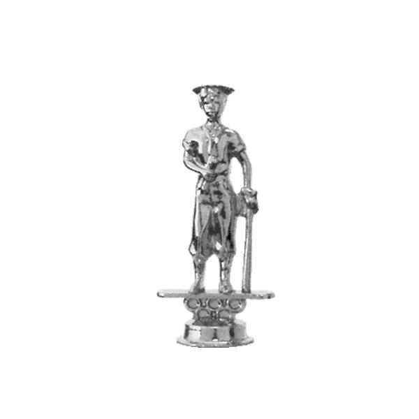 Baseball Graduate Silver Trophy Figure