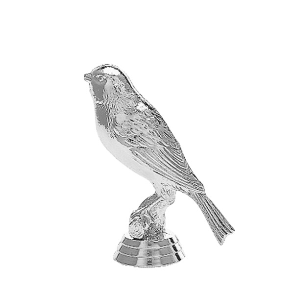 Canary Bird Silver Trophy Figure