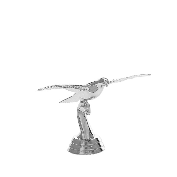 Pigeon in Flight Silver Trophy Figure