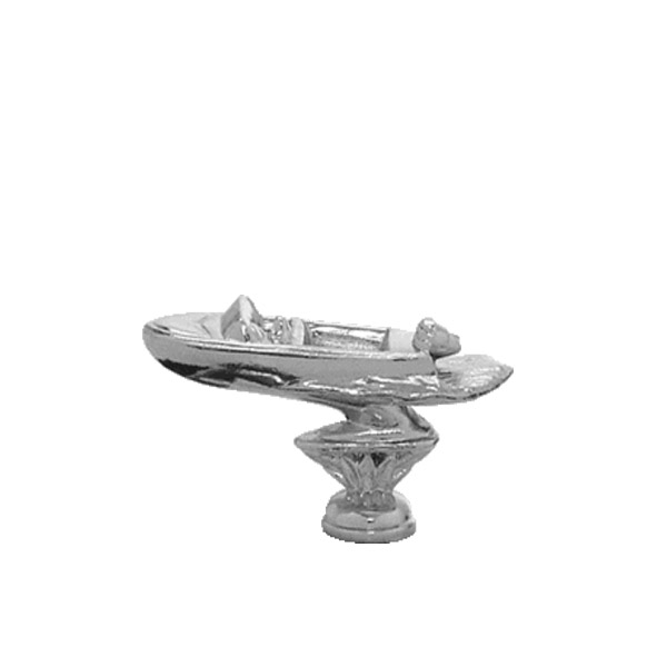 Outboard Pleasure Boat Silver Trophy Figure