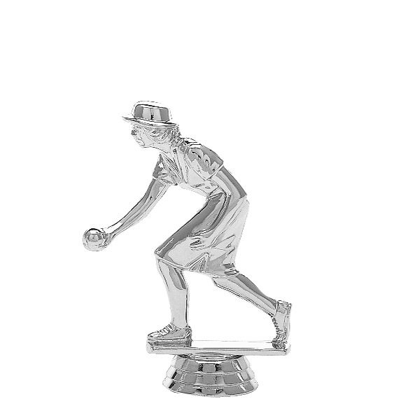 Bocce Female Silver Trophy Figure