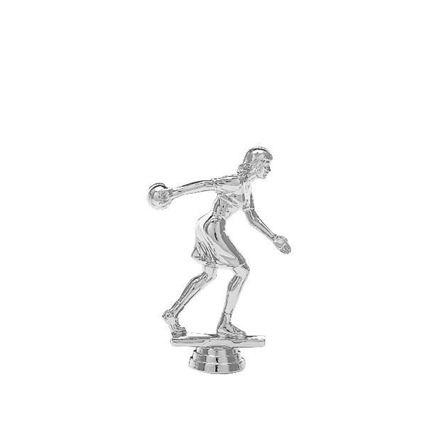 Ten Pin Bowler Female Silver Trophy Figure