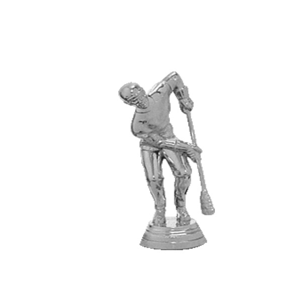 Broom Ball Male Silver Trophy Figure