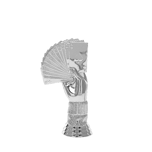 Bridge Hand Silver Trophy Figure