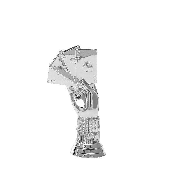 Cribbage Silver Trophy Figure