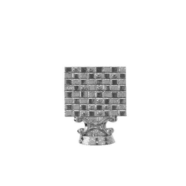 Checkers Silver Trophy Figure
