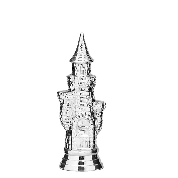 Chess Castle Silver Trophy Figure
