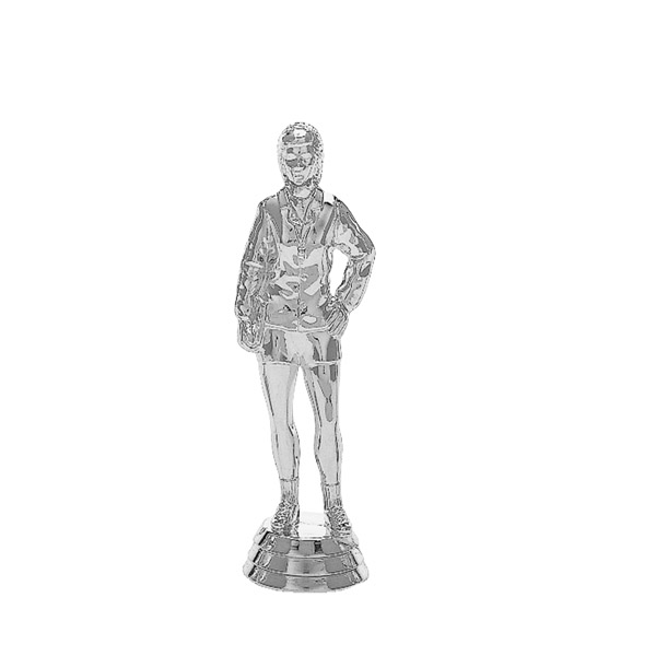 Coach Standing Female Silver Trophy Figure