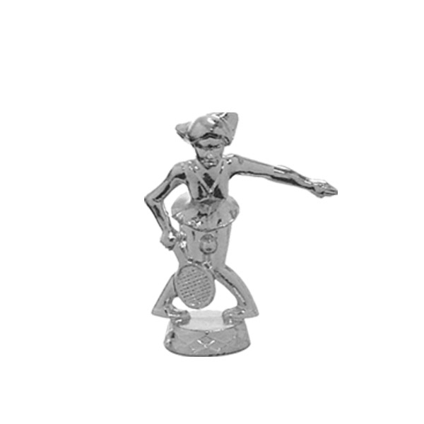 Comic Tennis Female Silver Trophy Figure