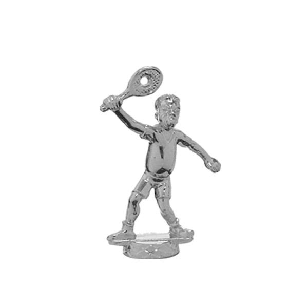 Comic Tennis Male Silver Trophy Figure