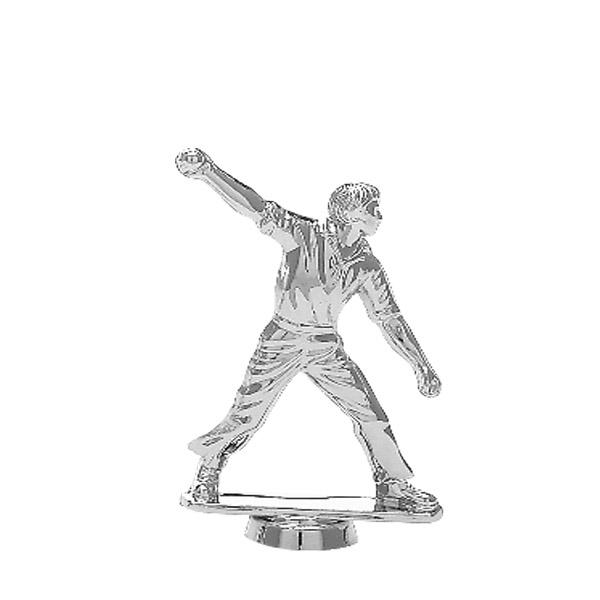 Cricket Bowl Silver Trophy Figure