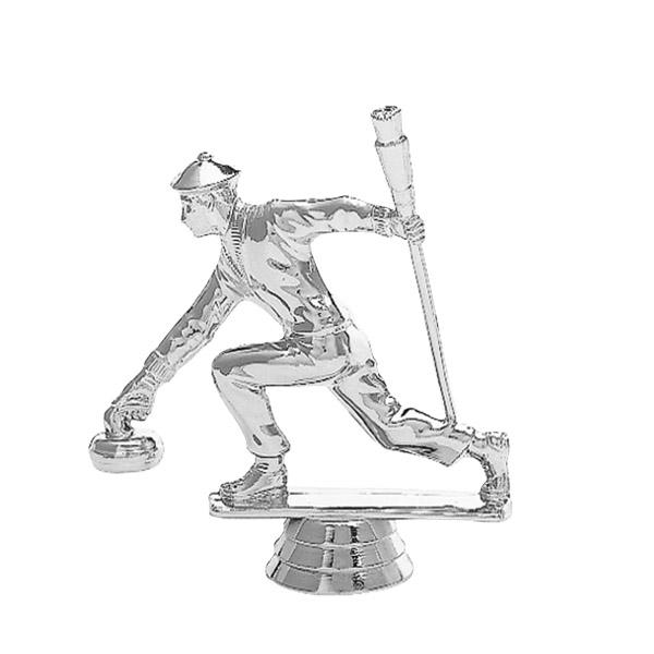 Curling Male Silver Trophy Figure