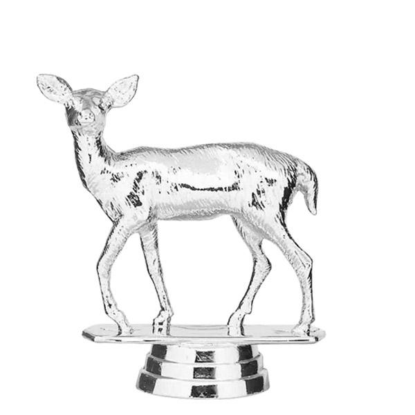 Doe Deer Silver Trophy Figure