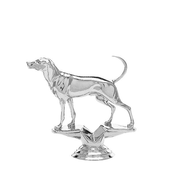 Coonhound Dog Silver Trophy Figure