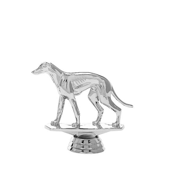 Greyhound Dog Silver Trophy Figure
