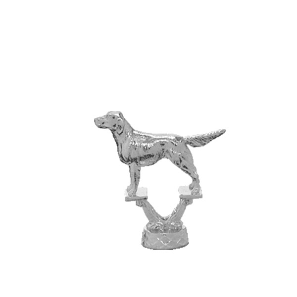 Irish Setter Dog Silver Trophy Figure