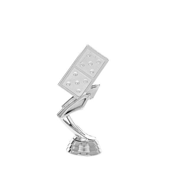 Domino Silver Trophy Figure