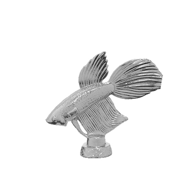 Betta Fish Silver Trophy Figure