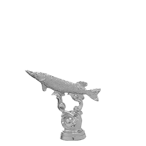 Pike Fish Silver Trophy Figure
