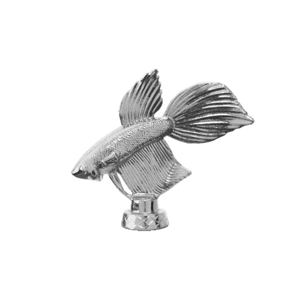 Tropical Fish Silver Trophy Figure