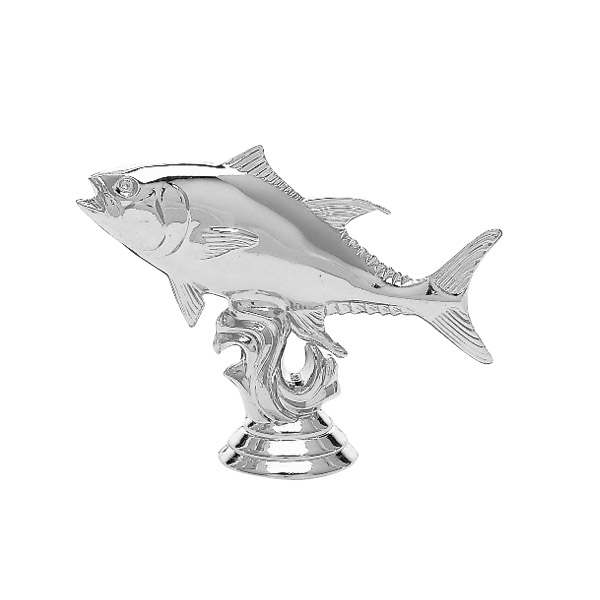 Tuna Fish Silver Trophy Figure