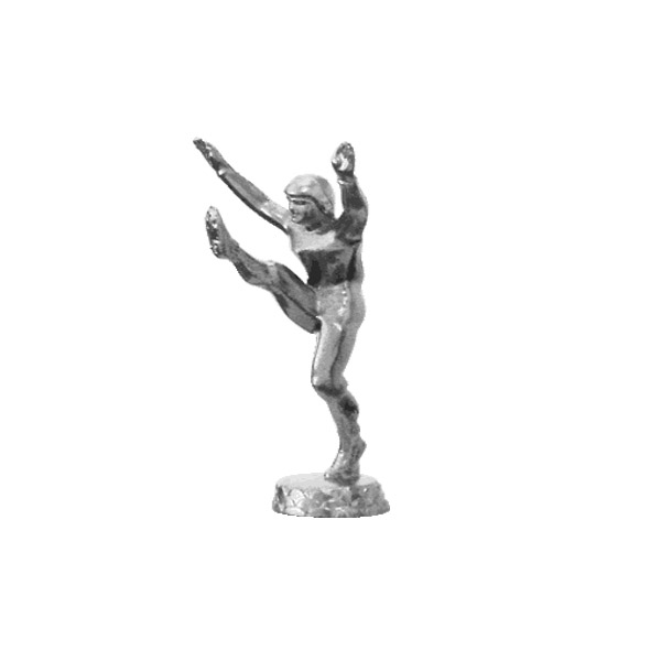 Football Kicker Silver Trophy Figure