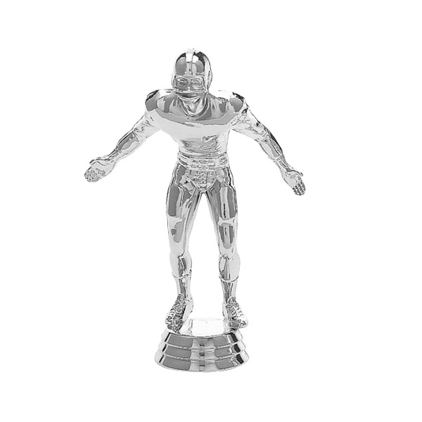 Football Lineman Silver Trophy Figure
