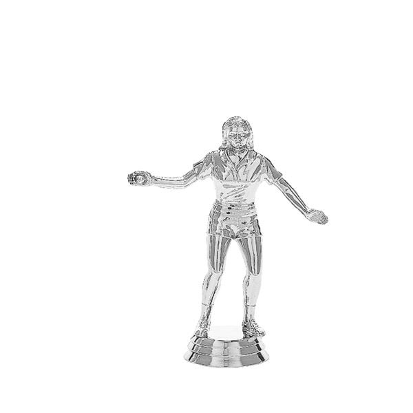Handball Female Silver Trophy Figure