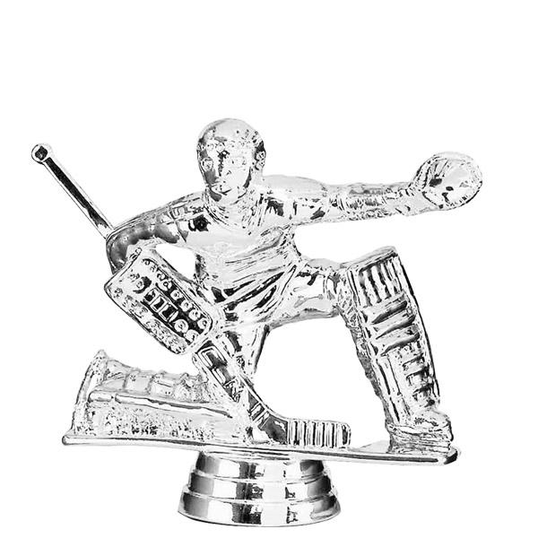 Ice Hockey Goalie Silver Trophy Figure