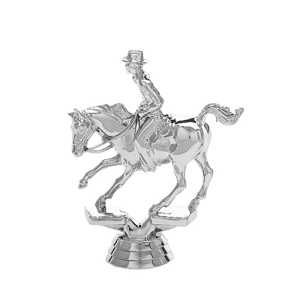 Cutting Horse Silver Trophy Figure