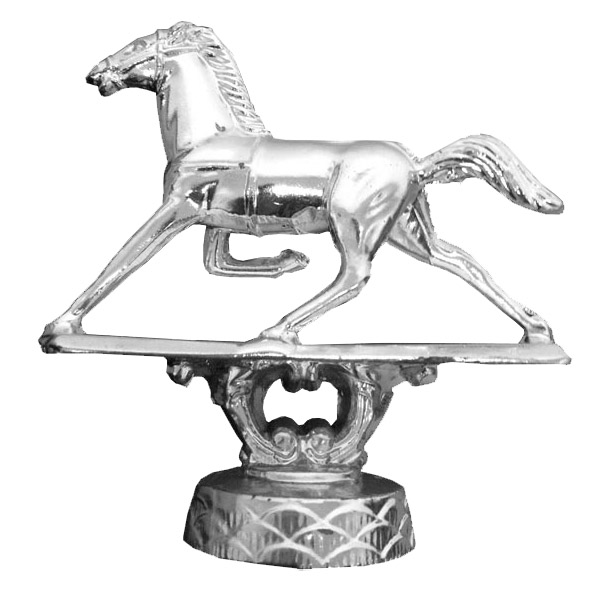Pacer Horse Silver Trophy Figure