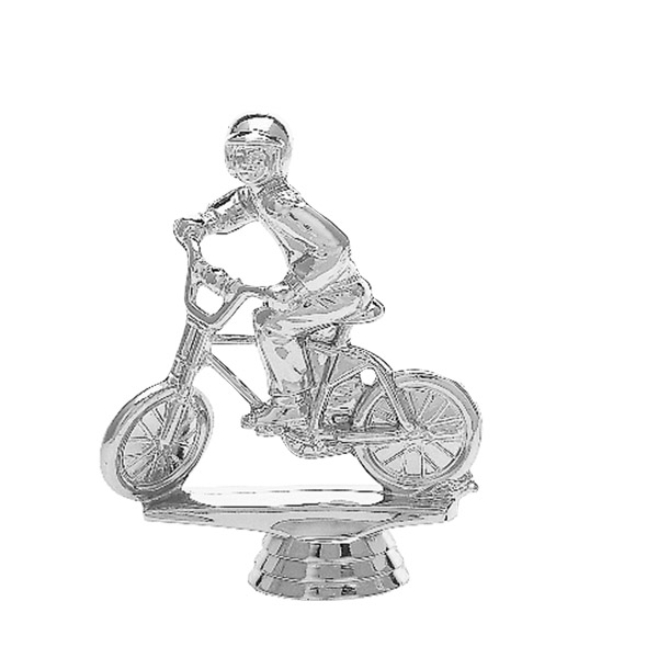 Motocross Bike w/Rider Silver Trophy Figure