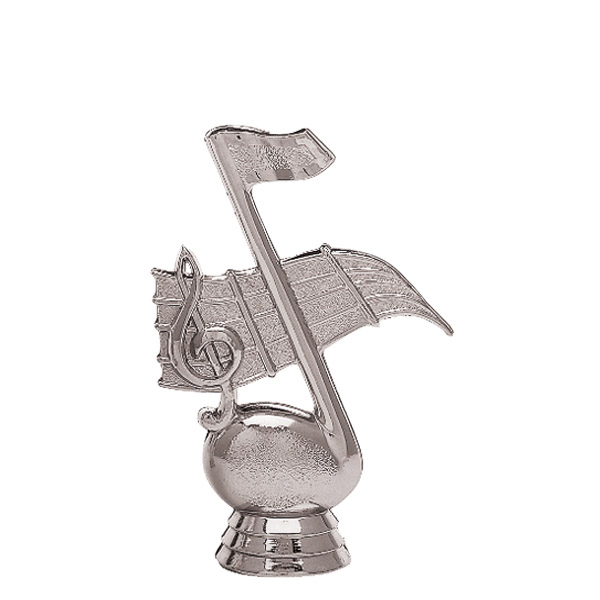 Music Note Silver Trophy Figure
