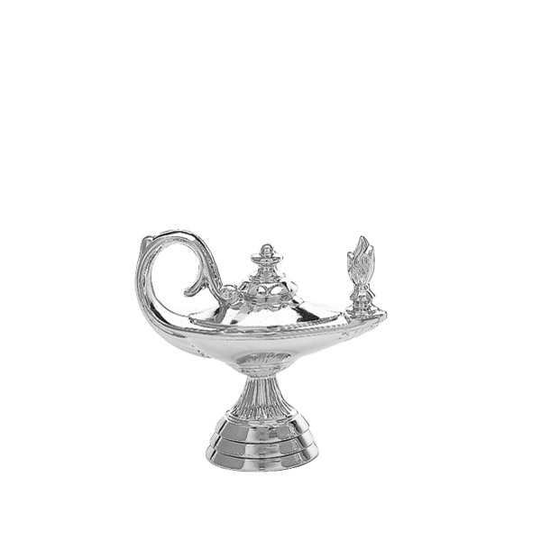 Lamp of Learning Silver Trophy Figure