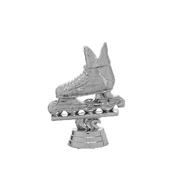 Inline Skate Silver Trophy Figure