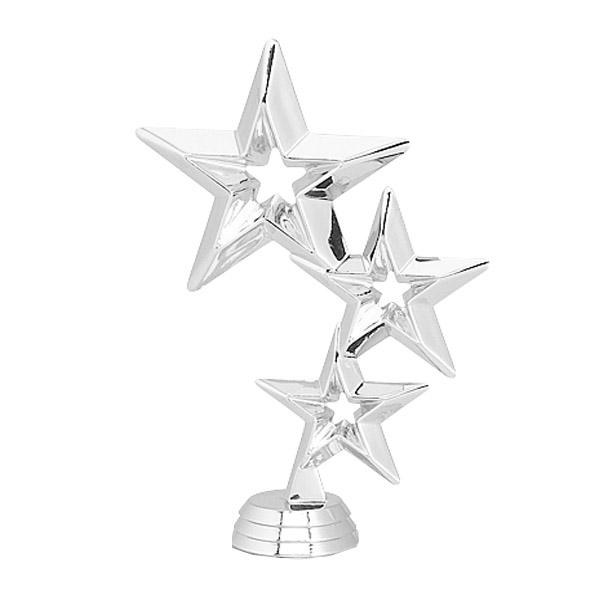 Triple Stars Silver Trophy Figure