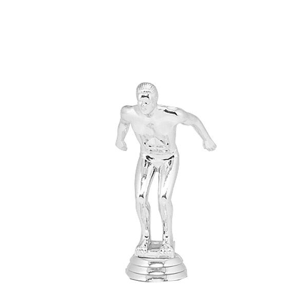 Swimmer Male Silver Trophy Figure