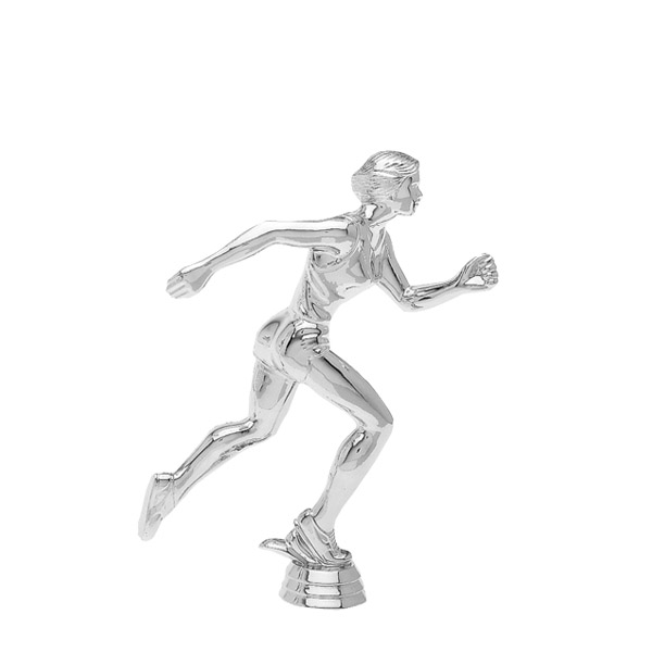 Track Runner Female Silver Trophy Figure