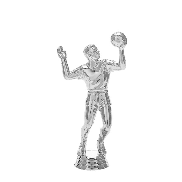 Volleyball Male Silver Trophy Figure